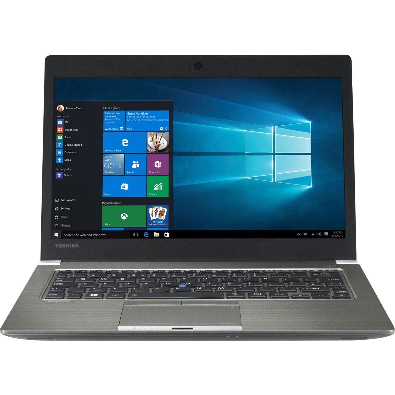 "Toshiba Portege Z30T-C 33.8 cm (13.3"") Touchscreen LCD Ultrabook - Intel Core i5 (6th Gen) i5-6200U Dual-core (2 Core) 2.30 GHz - 8 GB DDR3L SDRAM - 256 GB SSD - Windows 10 Pro 64-bit - 1920 x 1080 - Cosmo Silver with Hairline, Magnesium Alloy"