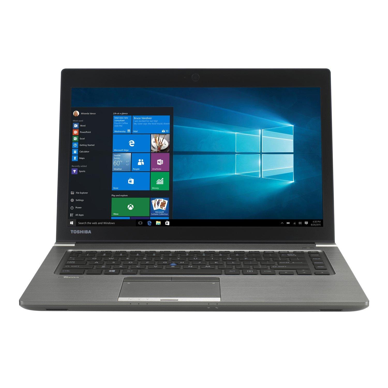 "Toshiba Tecra Z40-C 35.6 cm (14"") Ultrabook - Intel Core i7 (6th Gen) i7-6600U Dual-core (2 Core) 2.60 GHz - 8 GB DDR3L SDRAM - 256 GB SSD - Windows 7 64-bit upgradable to Windows 10 Pro - 1920 x 1080 - Cosmo Silver with Hairline"