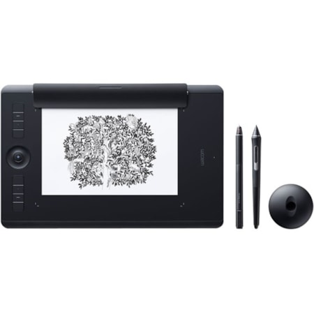 Wacom Intuos Pro PTH-860 Graphics Tablet - 5080 lpi - Touchscreen - Multi-touch Screen - Wired/Wireless - Black