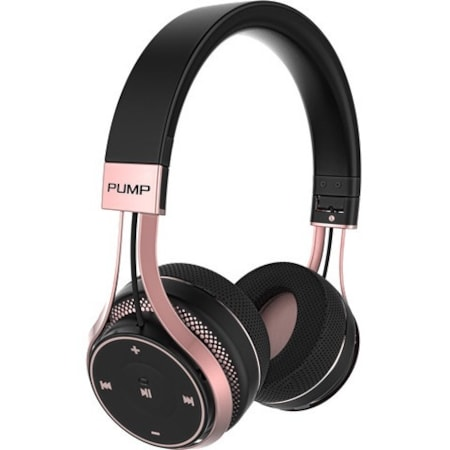 BlueAnt Pump Soul Wireless Bluetooth Stereo Headset - Over-the-head - Circumaural - Black Rose Gold