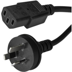 StarTech.com PXTA1011M Standard Power Cord - 1 m Length - AS/NZS 3112 - IEC 60320 C13