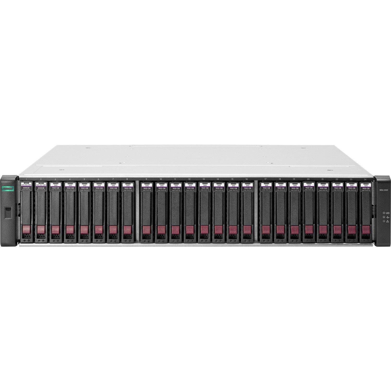 HPE 2042 24 x Total Bays SAN Storage System - 2U - Rack-mountable