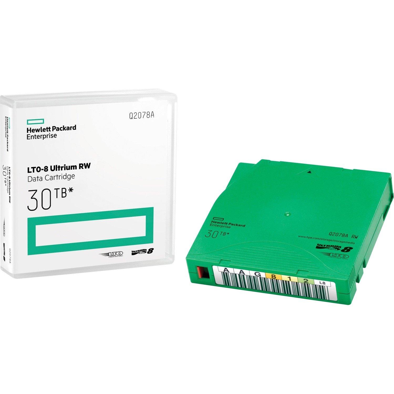 HPE Data Cartridge LTO-8 - Rewritable - Labeled - 20 Pack