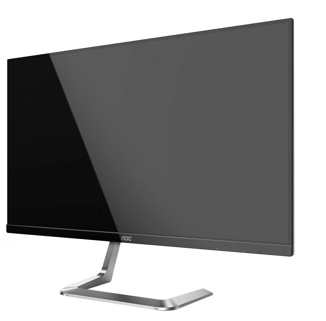 "AOC Q27T1 68.6 cm (27"") QHD WLED LCD Monitor - 16:9 - Silver"