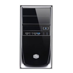 Cooler Master Elite RC-344-SKR420-N2 Computer Case - Mini ITX, Micro ATX Motherboard Supported - Mini-tower - Steel, Polymer, Mesh - Silver Black, Mirror Finish - 4 kg