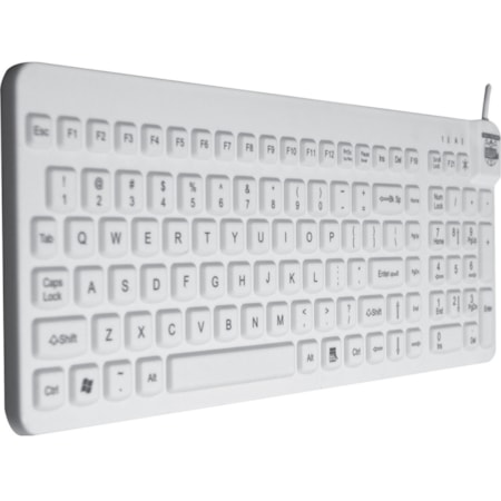 Man & Machine Really Cool Industrial Silicon Rubber Keyboard - Cable Connectivity - White