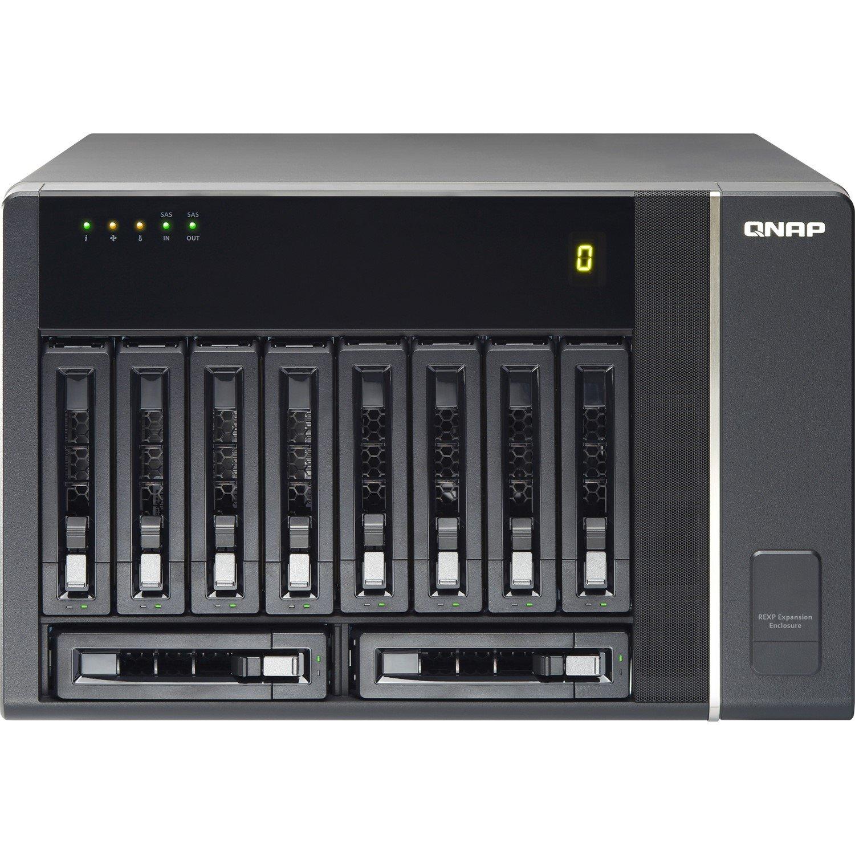 QNAP REXP-1000 Pro Drive Enclosure - 24Gb/s Mini-SAS Host Interface External