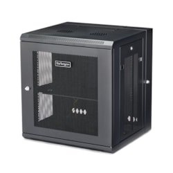 StarTech.com 12U Wall Mountable Rack Cabinet for Server, LAN Switch, Patch Panel431.80 mm Rack Depth - Black