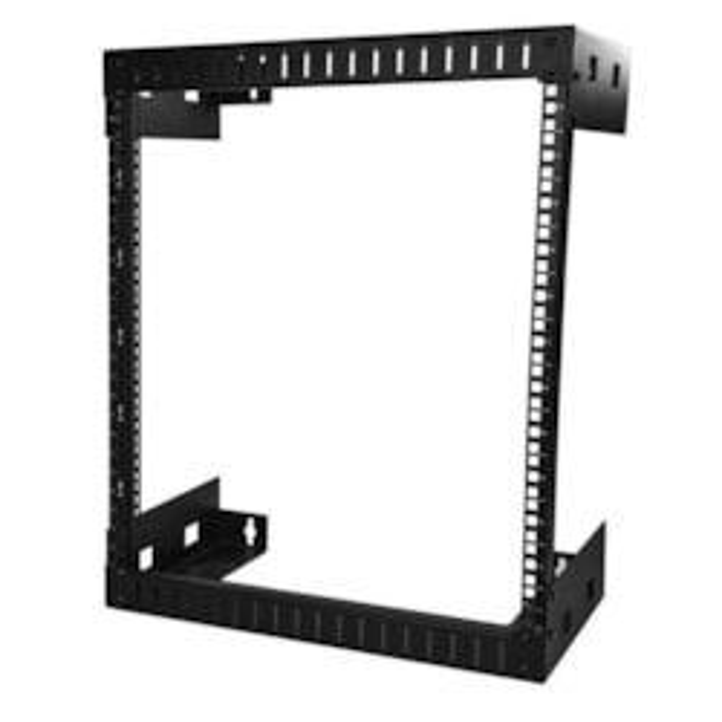 StarTech.com 12U Wall Mountable Rack Frame for Server, LAN Switch, Patch Panel304.80 mm Rack Depth - Black