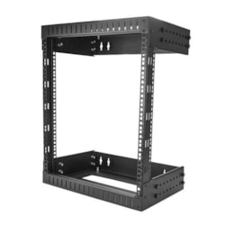 StarTech.com 12U High x 449.58 mm Wide x 508 mm Deep Wall Mountable Rack Frame for Server, LAN Switch, Patch Panel - Black