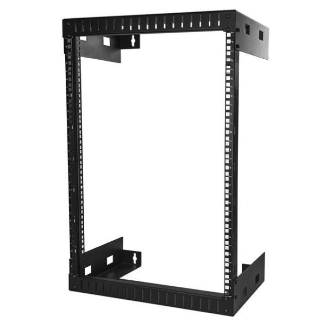 StarTech.com 15U Wall Mountable Rack Frame for Server, LAN Switch, Patch Panel - 464.82 mm Rack Width x 304.80 mm Rack Depth - Black