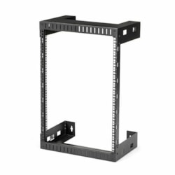 StarTech.com 15U Wall Mountable Rack Frame for Server, LAN Switch, Patch Panel - 464.82 mm Rack Width x 304.80 mm Rack Depth - Black