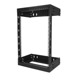 StarTech.com 15U Wall Mountable Rack Frame for Server, LAN Switch, Patch Panel - 482.60 mm Rack Width x 505.46 mm Rack Depth - Black
