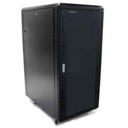 StarTech.com 25U High x 464.82 mm Wide x 812.80 mm Deep Rack Cabinet for A/V Equipment, Server - Black