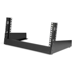StarTech.com 4U Floor Standing Rack Frame for A/V Equipment, LAN Switch, Patch Panel - Black - TAA Compliant