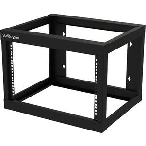 StarTech.com 6U Wall Mountable Rack Frame for Server, LAN Switch, Patch Panel - 482.60 mm Rack Width x 457.20 mm Rack Depth - Black