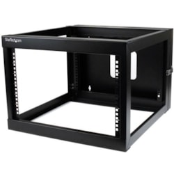 StarTech.com 6U Wall Mountable Rack Frame - 482.60 mm Rack Width - Black - TAA Compliant