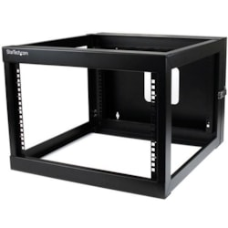 StarTech.com 6U High x 482.60 mm Wide Wall Mountable Rack Frame - Black - TAA Compliant