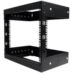 StarTech.com 8U Wall Mountable Rack Frame for LAN Switch, Patch Panel - Black - TAA Compliant