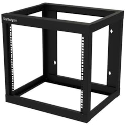 StarTech.com 9U Wall Mountable Rack Frame for Server, LAN Switch, Patch Panel, A/V Equipment - 482.60 mm Rack Width - Black