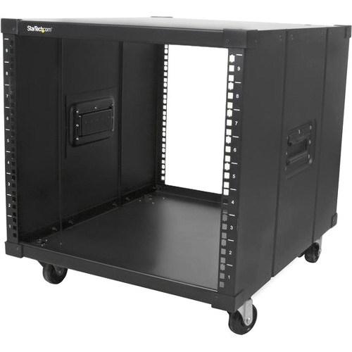 StarTech.com 9U High x 449.58 mm Wide x 584.20 mm Deep Rack Cabinet for Server - Black - TAA Compliant