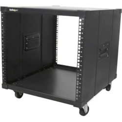 StarTech.com 9U High x 449.58 mm Wide x 584.20 mm Deep Rack Cabinet for Server - Black - TAA Compliant