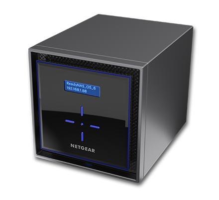 Netgear ReadyNAS RN424 4 x Total Bays SAN/NAS Storage System - Intel Atom Dual-core (2 Core) 1.50 GHz - 2 GB RAM - DDR4 SDRAM Desktop