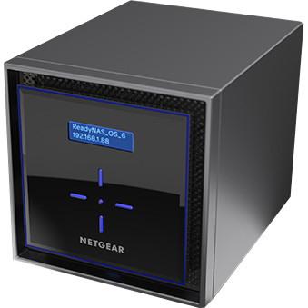 Netgear ReadyNAS RN424D6 4 x Total Bays SAN/NAS Storage System - Intel Atom Dual-core (2 Core) 1.50 GHz - 2 GB RAM - DDR4 SDRAM Desktop