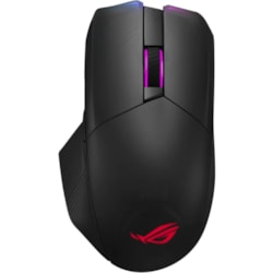 Asus ROG Chakram Gaming Mouse - Bluetooth/Radio Frequency - USB - Optical - 7 Button(s) - Black - 1 Pack