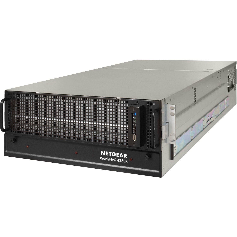 Netgear ReadyNAS RR4360X 60 x Total Bays SAN/NAS Storage System - 4U - Rack-mountable