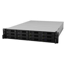 Synology RackStation RS2418RP+ 12-Bay 2U Rack Intel C3538 Quad-Core Redundant Power, 2.1GHz 4GB DDR4 4xGbE Lan 2xUSB3.0 1xExpansion Port 1xPCIe 2xM.2