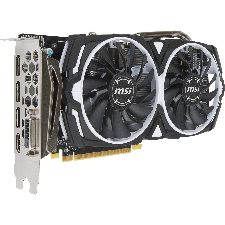 MSI ARMOR RX 570 ARMOR 4G OC Radeon RX 570 Graphic Card - 1.27 GHz Boost Clock - 4 GB GDDR5