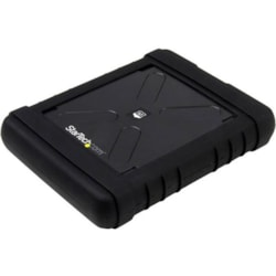 StarTech.com Drive Enclosure Serial ATA/600 - USB 3.0 Micro-B Host Interface - UASP Support External - Black