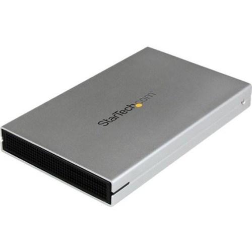 StarTech.com Drive Enclosure - USB 3.0 Type B, eSATAp Host Interface - UASP Support External - Silver