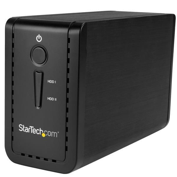 StarTech.com 2 x Total Bays DAS Storage System - Desktop