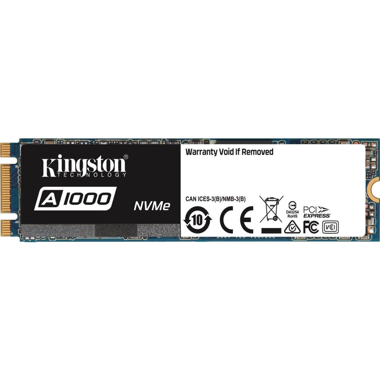 Kingston A1000 480 GB Solid State Drive - PCI Express (PCI Express 3.0 x2) - Internal - M.2 2280