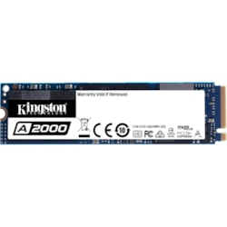 Kingston A2000 500 GB Solid State Drive - M.2 2280 Internal - PCI Express (PCI Express 3.0 x4)