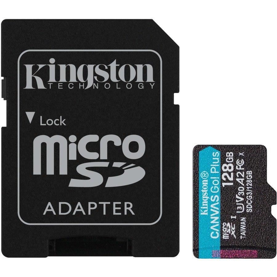 Kingston Canvas Go! Plus 128 GB Class 10/UHS-I (U3) microSDXC