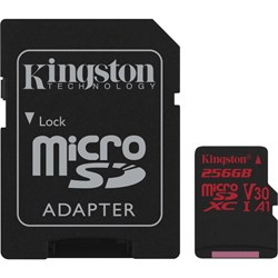 Kingston Canvas React 256 GB microSDXC