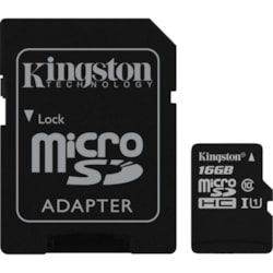 Kingston Canvas Select 16 GB Class 10/UHS-I (U1) microSDHC