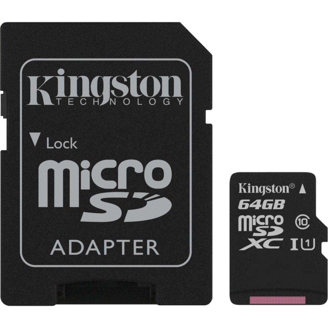 Kingston Canvas Select 64 GB Class 10/UHS-I (U1) microSDXC