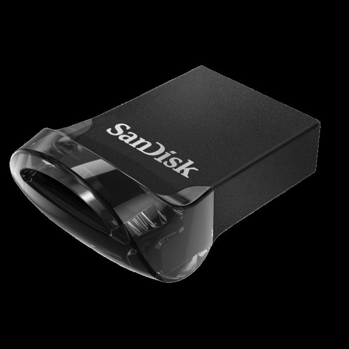 SanDisk Ultra Fit 128 GB USB 3.1 Type C Flash Drive - Black