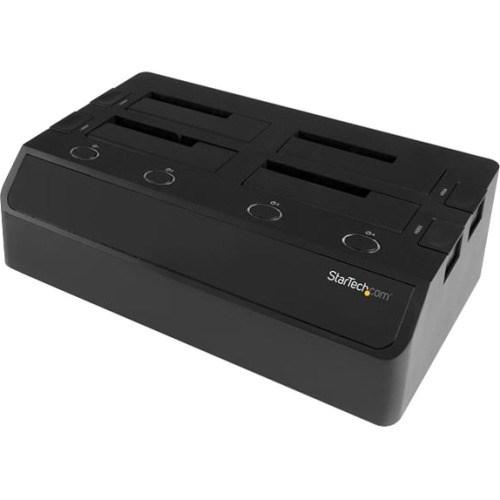 StarTech.com Drive Dock Serial ATA/600 - USB 3.0 Type B, eSATA Host Interface - UASP Support External - Black
