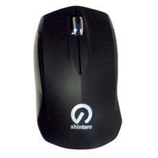 Shintaro Mouse - Optical - Cable - 3 Button(s) - Black