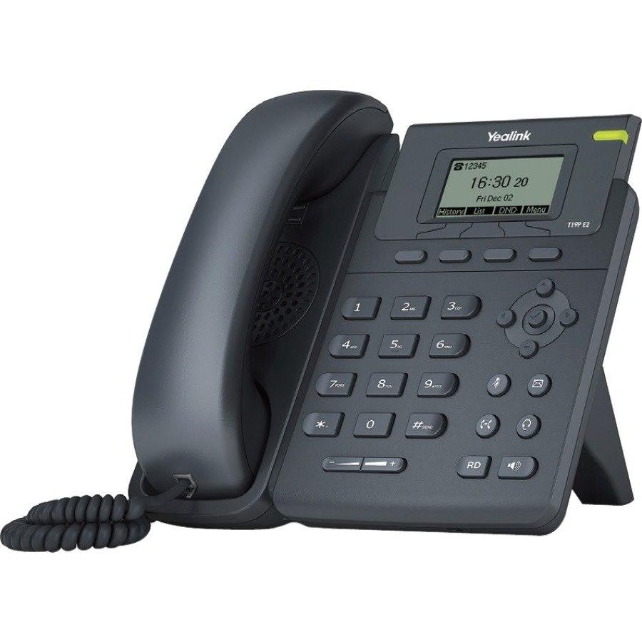 Yealink SIP-T19P E2 IP Phone - Desktop, Wall Mountable