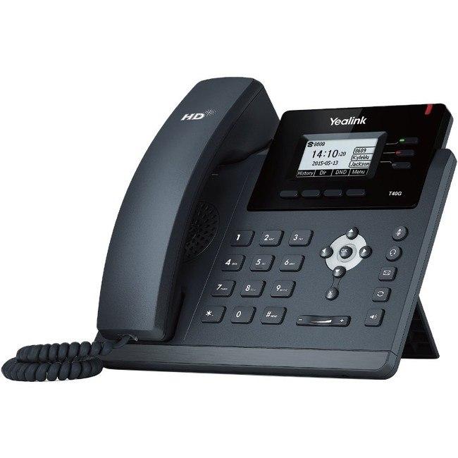 Yealink SIP-T40G IP Phone - Cable - Wall Mountable, Desktop - Black