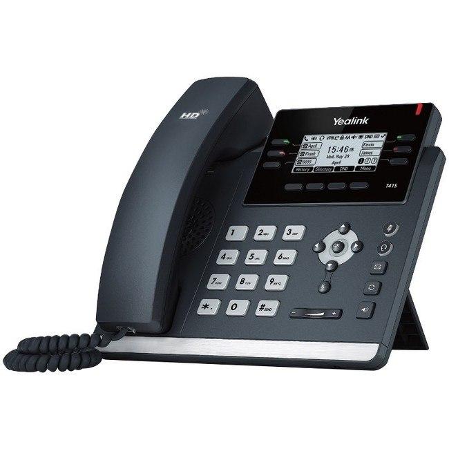 Yealink SIP-T41S IP Phone - Wall Mountable, Desktop - Black