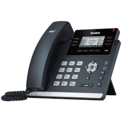 Yealink SIP-T42S IP Phone - Corded - Wall Mountable, Desktop - Black
