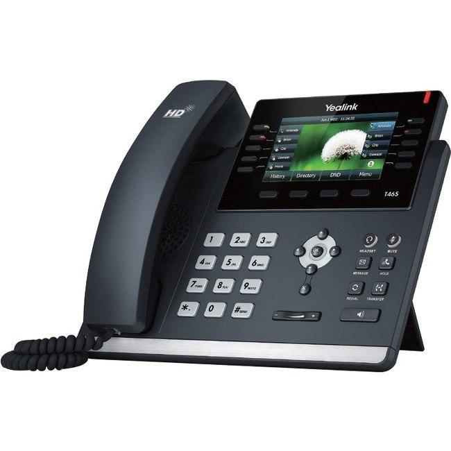 Yealink SIP-T46S IP Phone - Cable - Wall Mountable, Desktop - Black