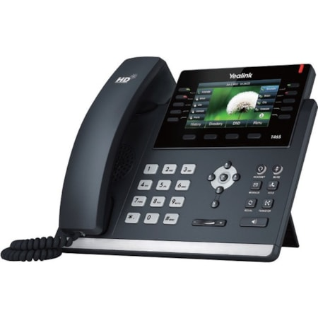 Yealink SIP-T46S IP Phone - Cable - Wall Mountable, Desktop - Black